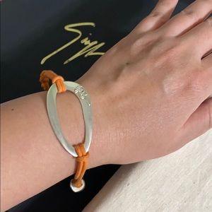 🖤IPPOLITA silver orange cord bracelet